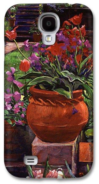 Tulips, Violas And Wallflowers Galaxy S4 Case by David Lloyd Glover