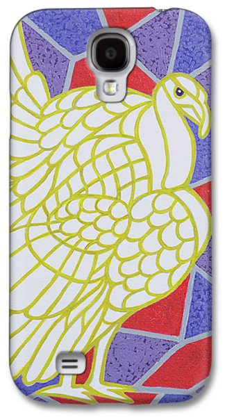 Turkey On Stained Glass Galaxy S4 Case by Pat Scott