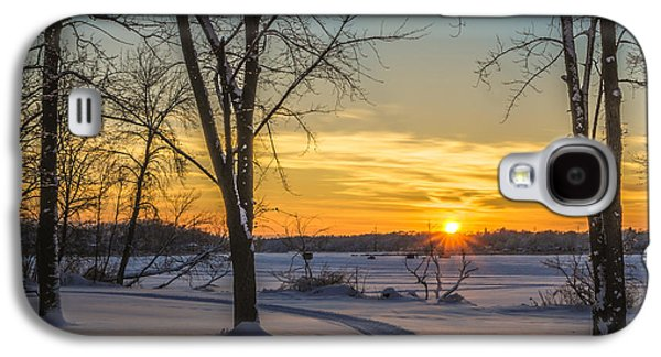 Turn Left At The Sunset Galaxy S4 Case by Randy Scherkenbach