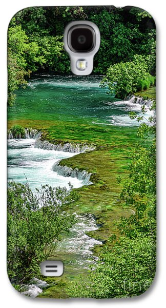 Turqouise Waterfalls Of Skradinski Buk At Krka National Park In Croatia Galaxy S4 Case