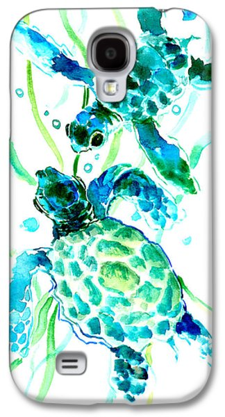 Turquoise Indigo Sea Turtles Galaxy S4 Case