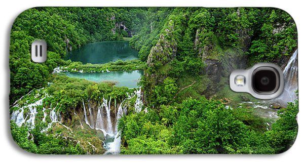 Turquoise Lakes And Waterfalls - A Dramatic View, Plitivice Lakes National Park Croatia Galaxy S4 Case