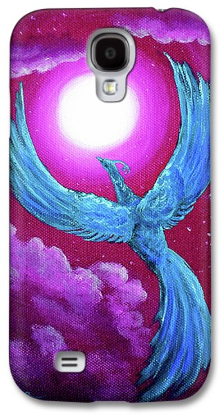 Turquoise Moon Phoenix Galaxy S4 Case by Laura Iverson