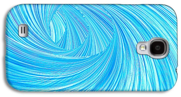 Turquoise Rays Galaxy S4 Case