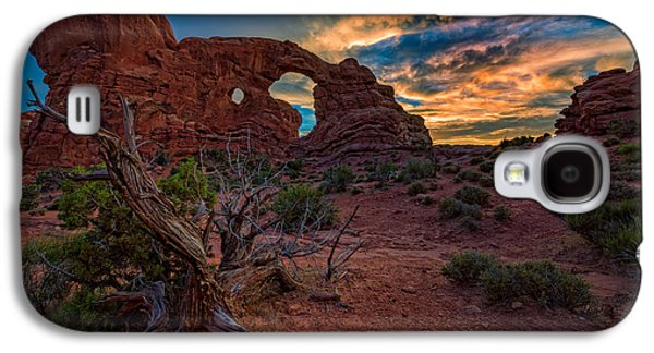 Turret Arch At Sunset Galaxy S4 Case