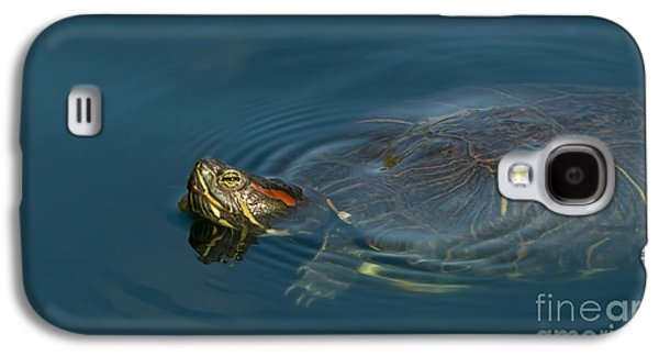 Turtle Floating In Calm Waters Galaxy S4 Case