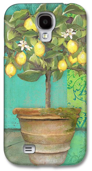 Tuscan Lemon Topiary - Damask Pattern 1 Galaxy S4 Case