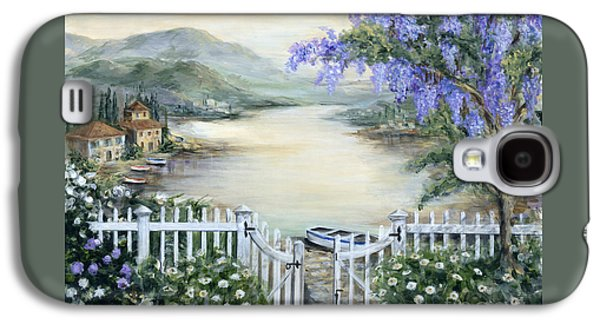 Tuscan Pond And Wisteria Galaxy S4 Case by Marilyn Dunlap
