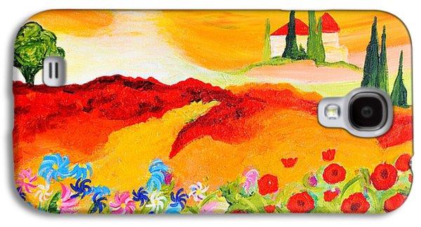 Tuscan Wildflowers Galaxy S4 Case