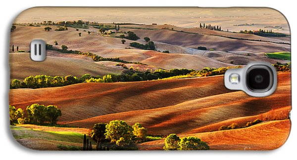 Tuscany Countryside Landscape At Sunrise Galaxy S4 Case by Michal Bednarek