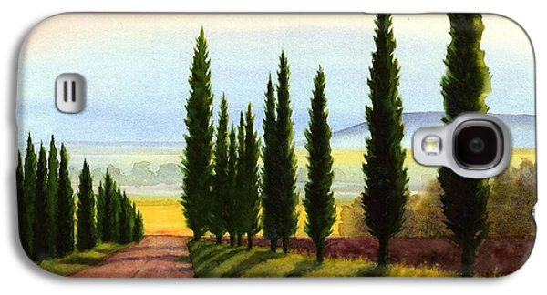 Tuscany Cypress Trees Galaxy S4 Case by Janet King