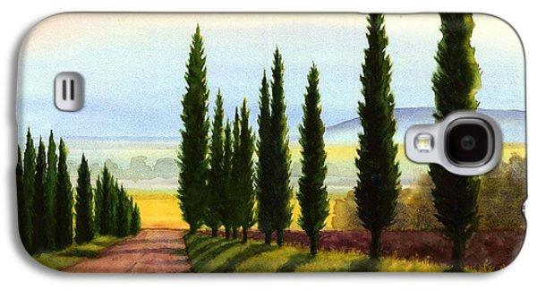 Tuscany Cypress Trees Galaxy S4 Case