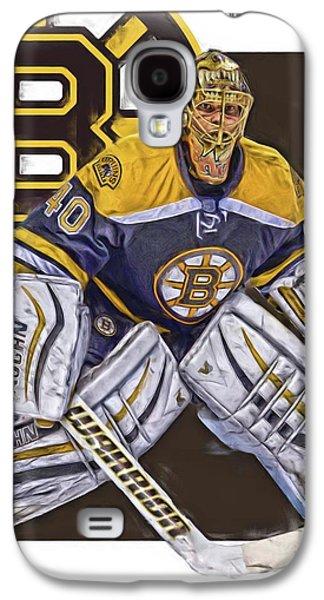Tuukka Rask Boston Bruins Oil Art 1 Galaxy S4 Case by Joe Hamilton