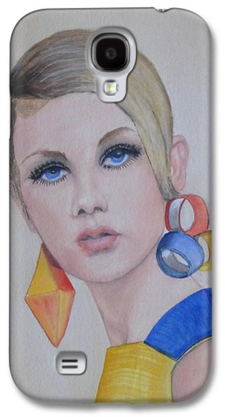 Twiggy The 60's Fashion Icon Galaxy S4 Case by Kelly Mills