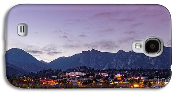 Twilight Panorama Of Estes Park, Stanley Hotel, Castle Mountain And Lumpy Ridge - Rocky Mountains  Galaxy S4 Case by Silvio Ligutti