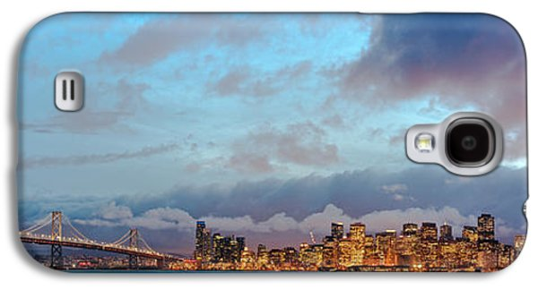 Twilight Panorama Of San Francisco Skyline And Bay Area Bridge From Treasure Island - California Galaxy S4 Case