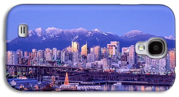 Twilight, Vancouver Skyline, British Galaxy S4 Case by Panoramic Images