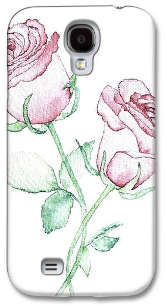 Twin Roses Galaxy S4 Case by Varpu Kronholm