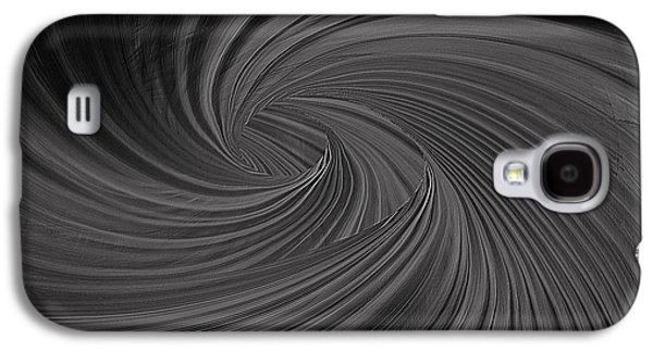 Twist To Black  - Black And Gray Art Galaxy S4 Case by Lourry Legarde