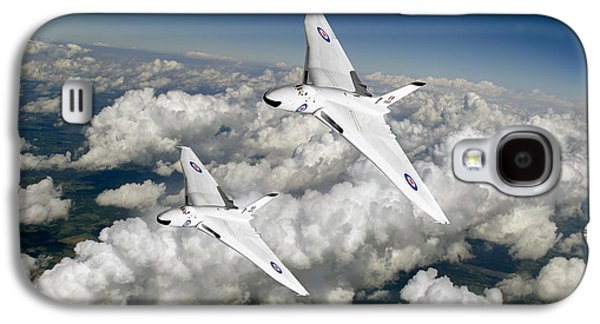 Galaxy S4 Case featuring the photograph Two Avro Vulcan B1 Nuclear Bombers by Gary Eason