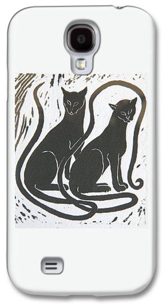 Two Black Felines Galaxy S4 Case