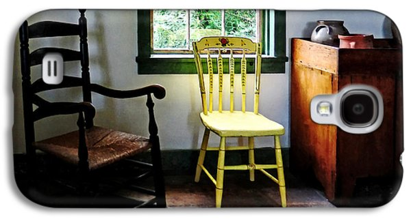 Two Chairs In Kitchen Galaxy S4 Case by Susan Savad