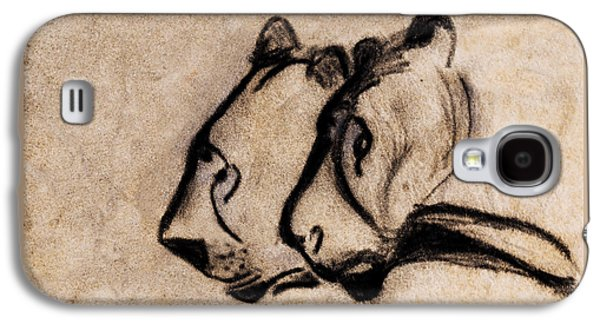 Two Chauvet Cave Lions - Clear Version Galaxy S4 Case