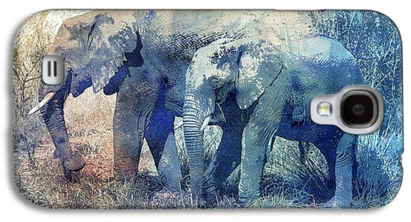 Two Elephants Galaxy S4 Case by Jutta Maria Pusl