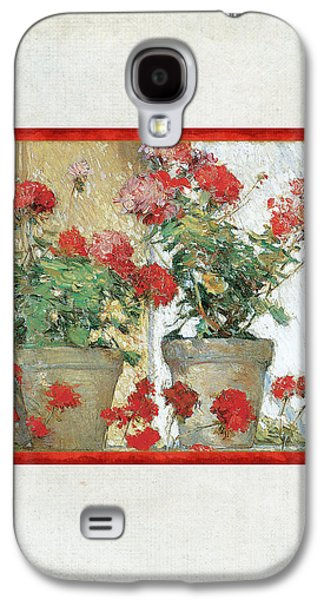 Two Geranium Pots Galaxy S4 Case by Audrey Jeanne Roberts