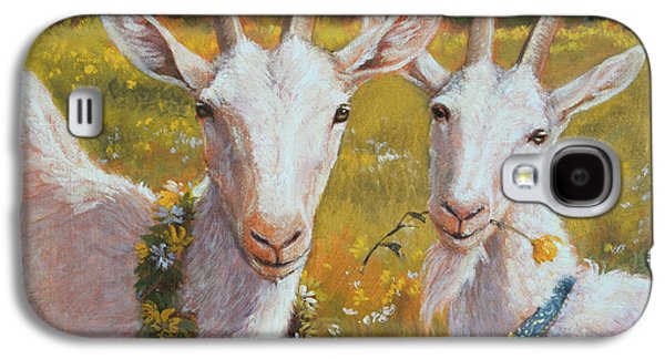 Two Goats Of Summer Galaxy S4 Case by Tracie Thompson
