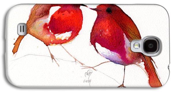 Lovebird Galaxy S4 Case - Two Little Birds by Nancy Moniz