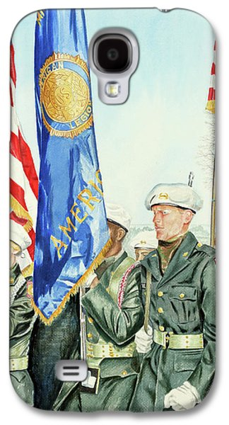 Patriotism Paintings Galaxy S4 Cases - Two Months After 9-11  Veterans Day 2001 Galaxy S4 Case by Carolyn Coffey Wallace