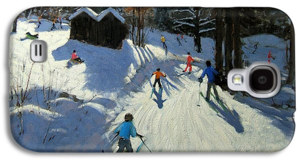 Two Mountain Huts Galaxy S4 Case by Andrew Macara