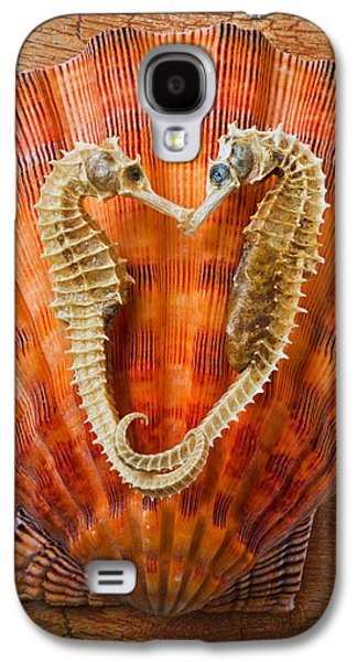 Two Seahorses On Seashell Galaxy S4 Case