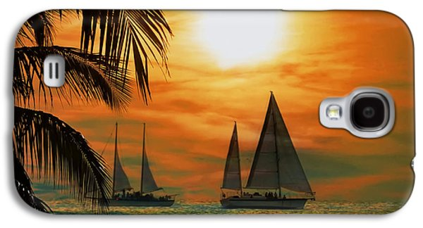 Sailboat Galaxy S4 Cases - Two Ships Passing in the Night Galaxy S4 Case by Bill Cannon