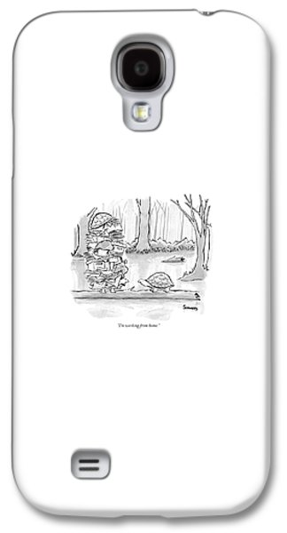 Reptiles Galaxy S4 Case - Two Tortoises Speak. One Has A Large Number by Benjamin Schwartz