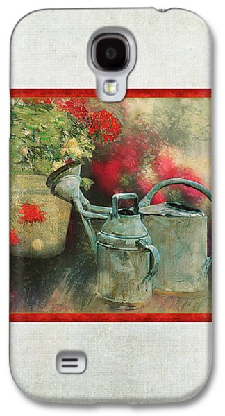 Two Watering Cans In The Garden Galaxy S4 Case