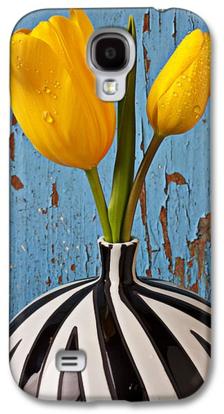 Two Yellow Tulips Galaxy S4 Case by Garry Gay