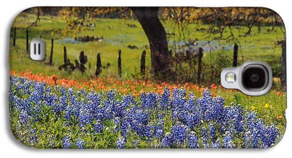 Tx Tradition, Bluebonnets Galaxy S4 Case by Lisa Spencer