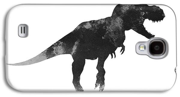 Tyrannosaurus Figurine Watercolor Painting Galaxy S4 Case by Joanna Szmerdt