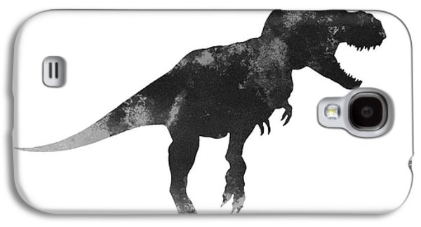 Tyrannosaurus Figurine Watercolor Painting Galaxy S4 Case