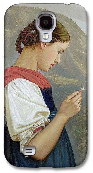 Tyrolean Girl Contemplating A Crucifix Galaxy S4 Case