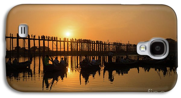 Burmese Python Galaxy S4 Case - U Bein Bridge At Sunset by Delphimages Photo Creations