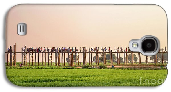 Burmese Python Galaxy S4 Case - U Bein Bridge by Delphimages Photo Creations