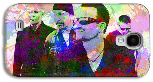 U2 Band Portrait Paint Splatters Pop Art Galaxy S4 Case