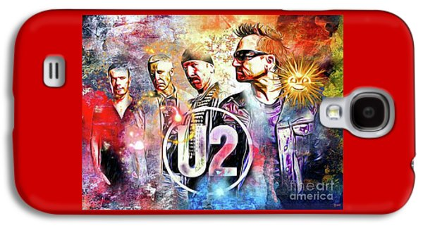 U2 Painted Galaxy S4 Case by Daniel Janda
