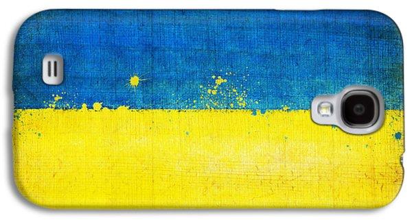 Ukraine Flag Galaxy S4 Case by Setsiri Silapasuwanchai