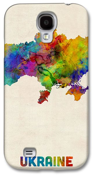 Ukraine Watercolor Map Galaxy S4 Case by Michael Tompsett