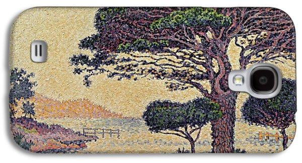 Umbrella Pines At Caroubiers Galaxy S4 Case by Paul Signac