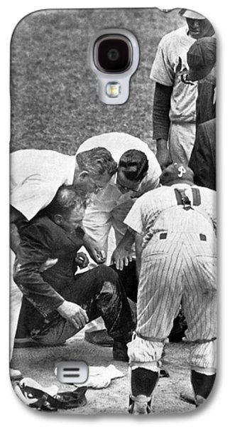 Umpire Down From Foul Tip Galaxy S4 Case